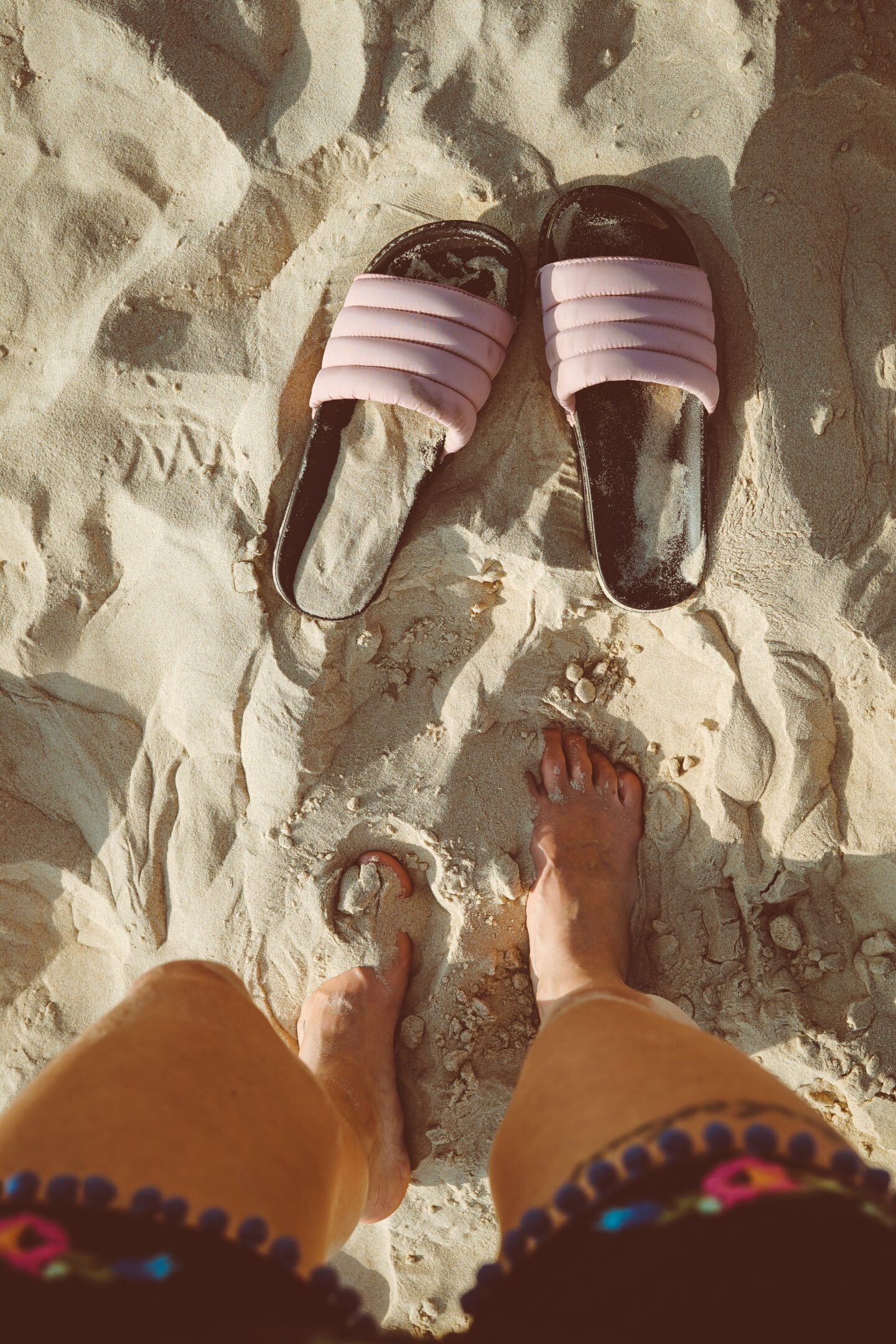 Slides on beach