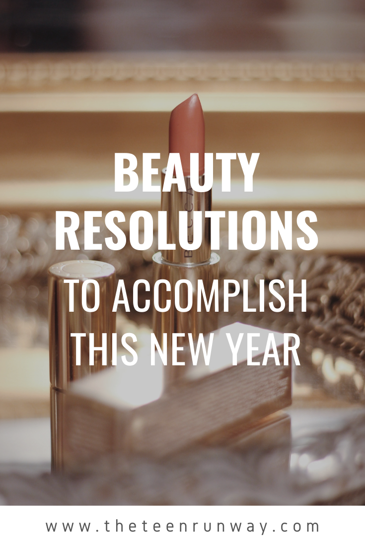 Pinterest image for beauty resolutions post.